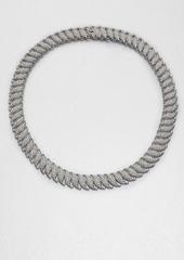Adriana Orsini Crystal Encrusted Leaf Link Necklace