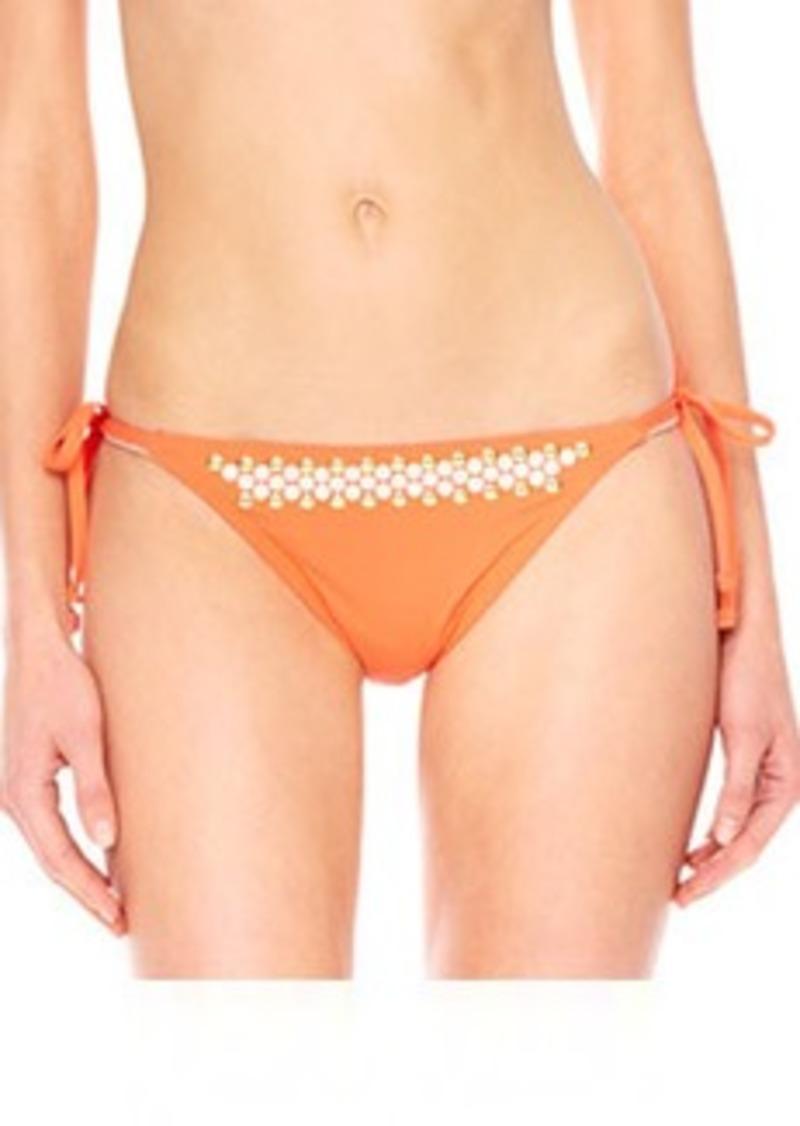 MICHAEL Michael Kors Studded Tie-Side Swim Bottom