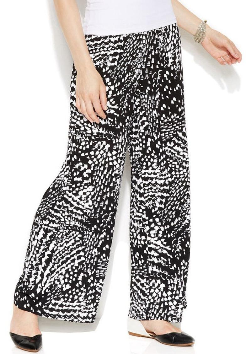 Alfani Wide-Leg Graphic-Print Pants