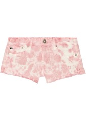 AG Adriano Goldschmied AG Jeans Daisy tie-dyed cut-off stretch-denim shorts