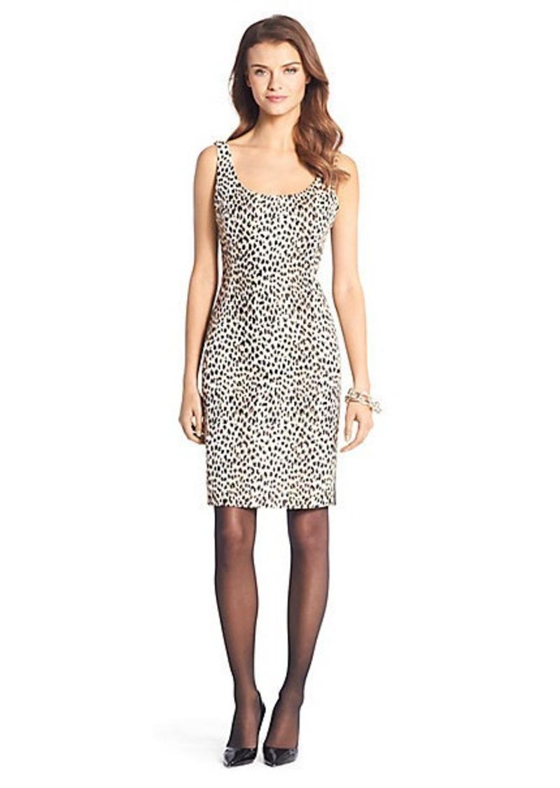 Diane Von Furstenberg Arianna Leopard Woven Scoopneck Dress