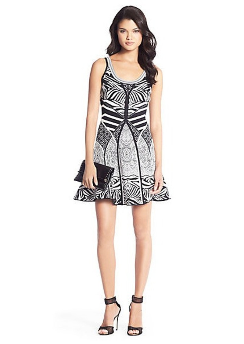 Diane Von Furstenberg Fanny Knit Fit and Flare Dress