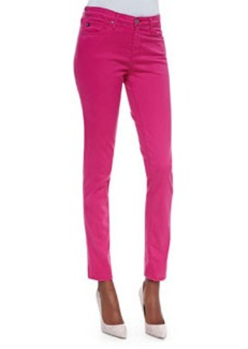 AG Adriano Goldschmied Prima Mid-Rise Cigarette Jeans, Magenta   Prima Mid-Rise Cigarette Jeans, Magenta