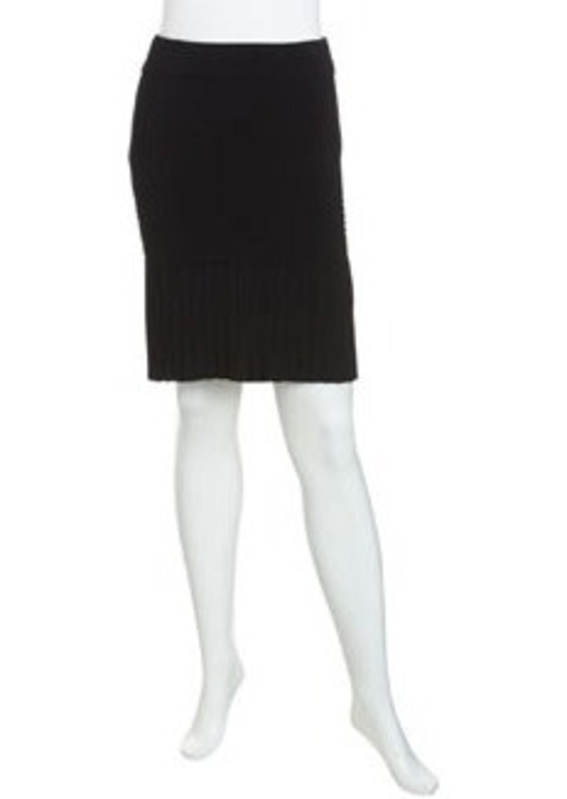 Catherine Malandrino Pleated Sweep Bandage Skirt, Noir