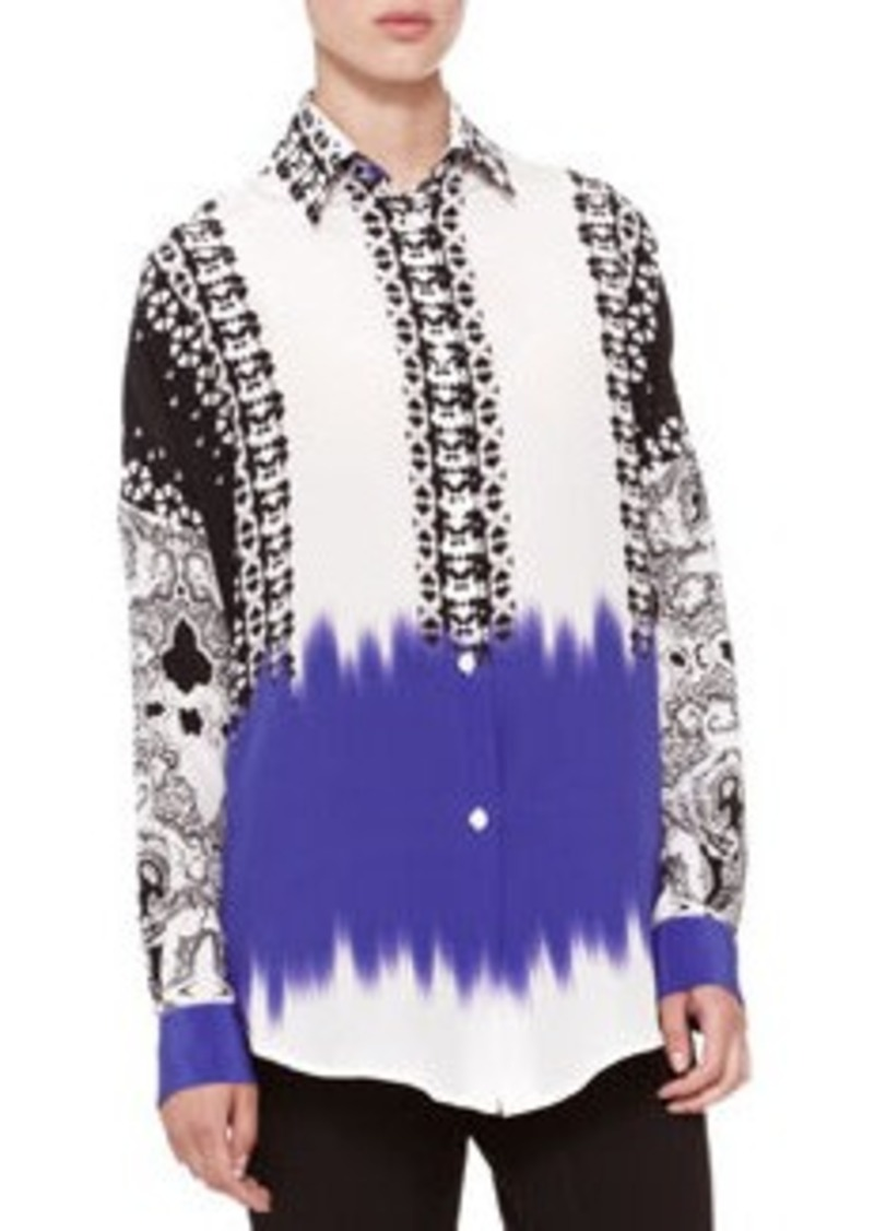 Etro Mix-Print Oversized Blouse   Mix-Print Oversized Blouse