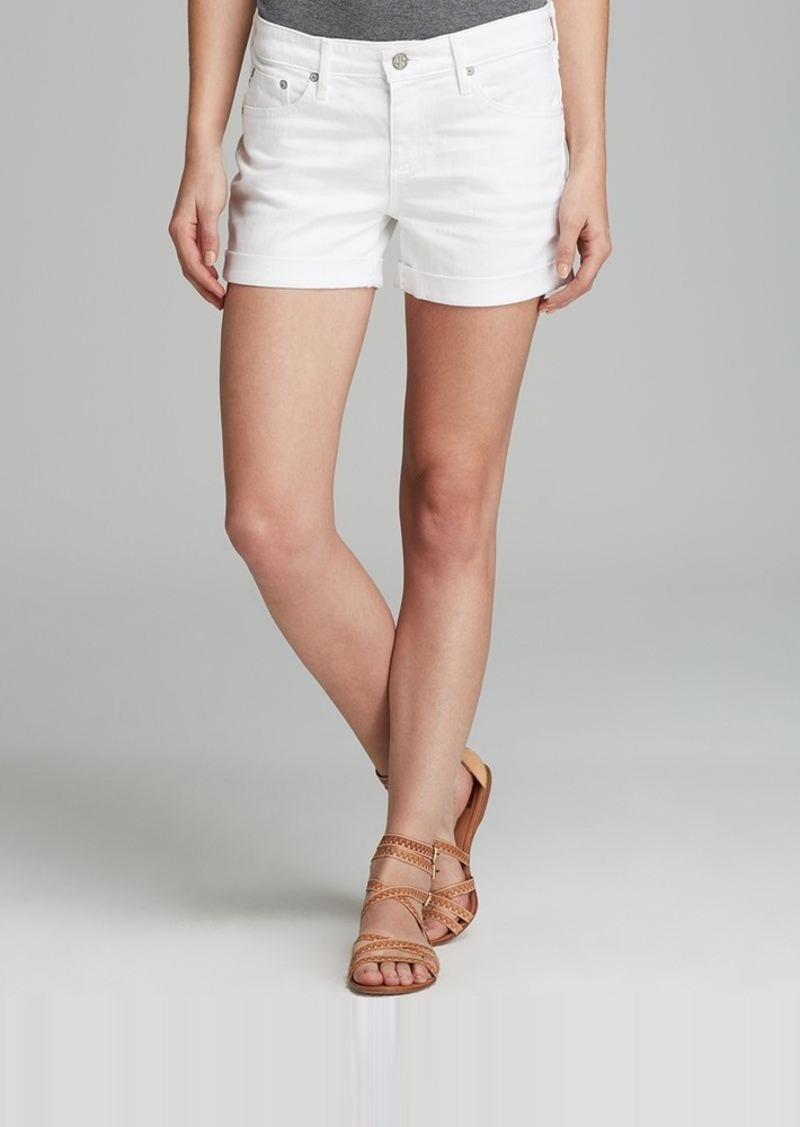 AG Adriano Goldschmied AG Shorts - The Hailey Ex Boyfriend Roll-Up in 1 Year White