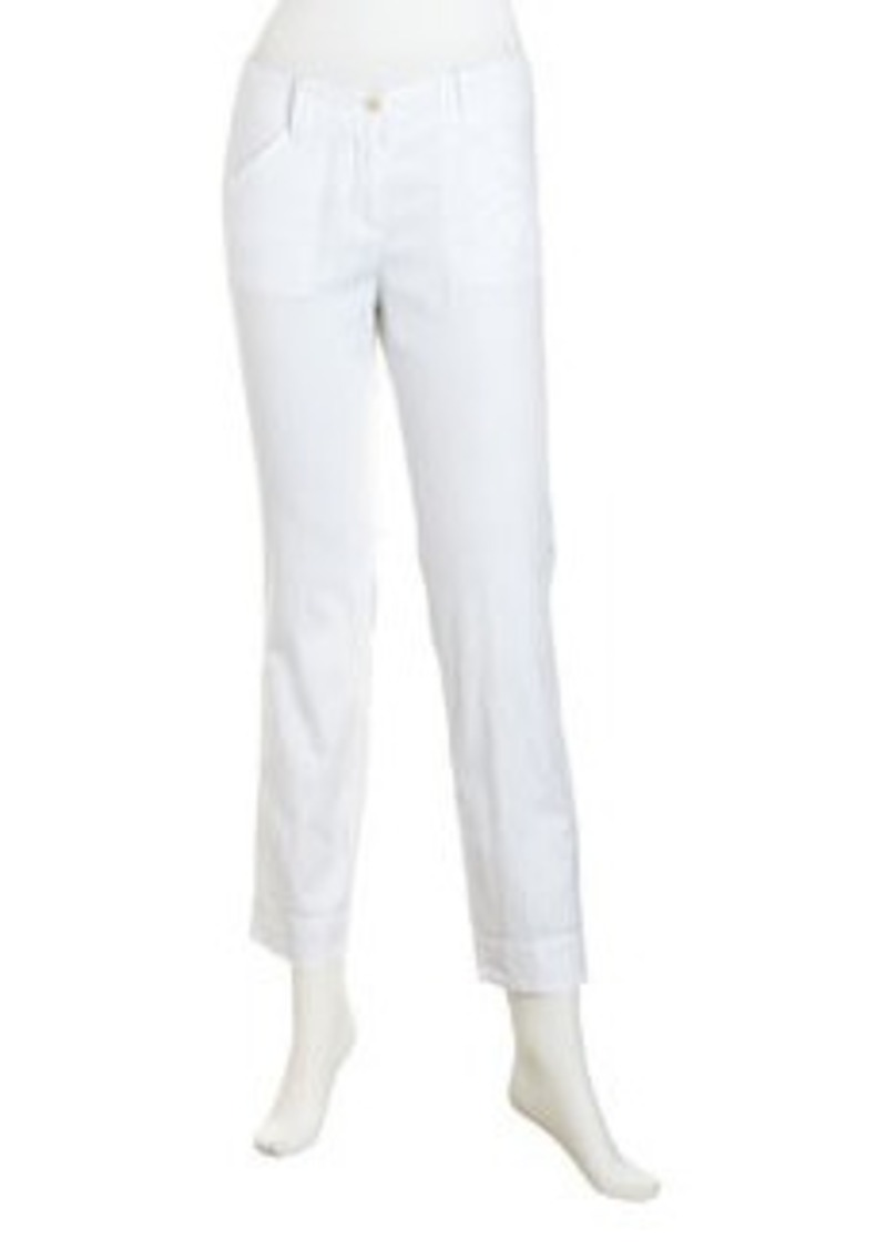 Isda & Co Cuffed Cropped Pants, White