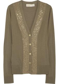 MICHAEL Michael Kors Stud-embellished knitted cardigan
