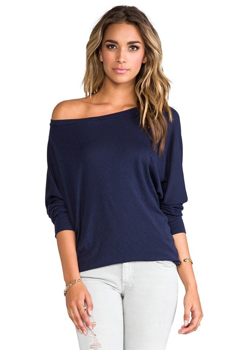 Michael stars michael stars 3 4 sleeve wide neck dolman in for Michael stars t shirts on sale