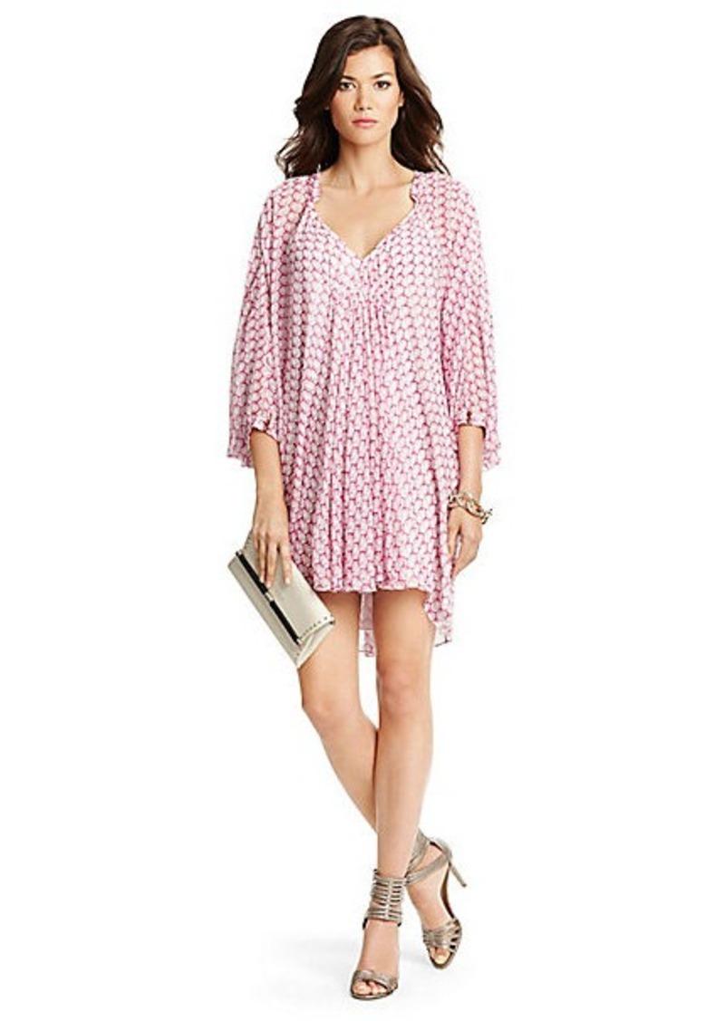 Diane Von Furstenberg Fleurette Printed Chiffon Kaftan Dress