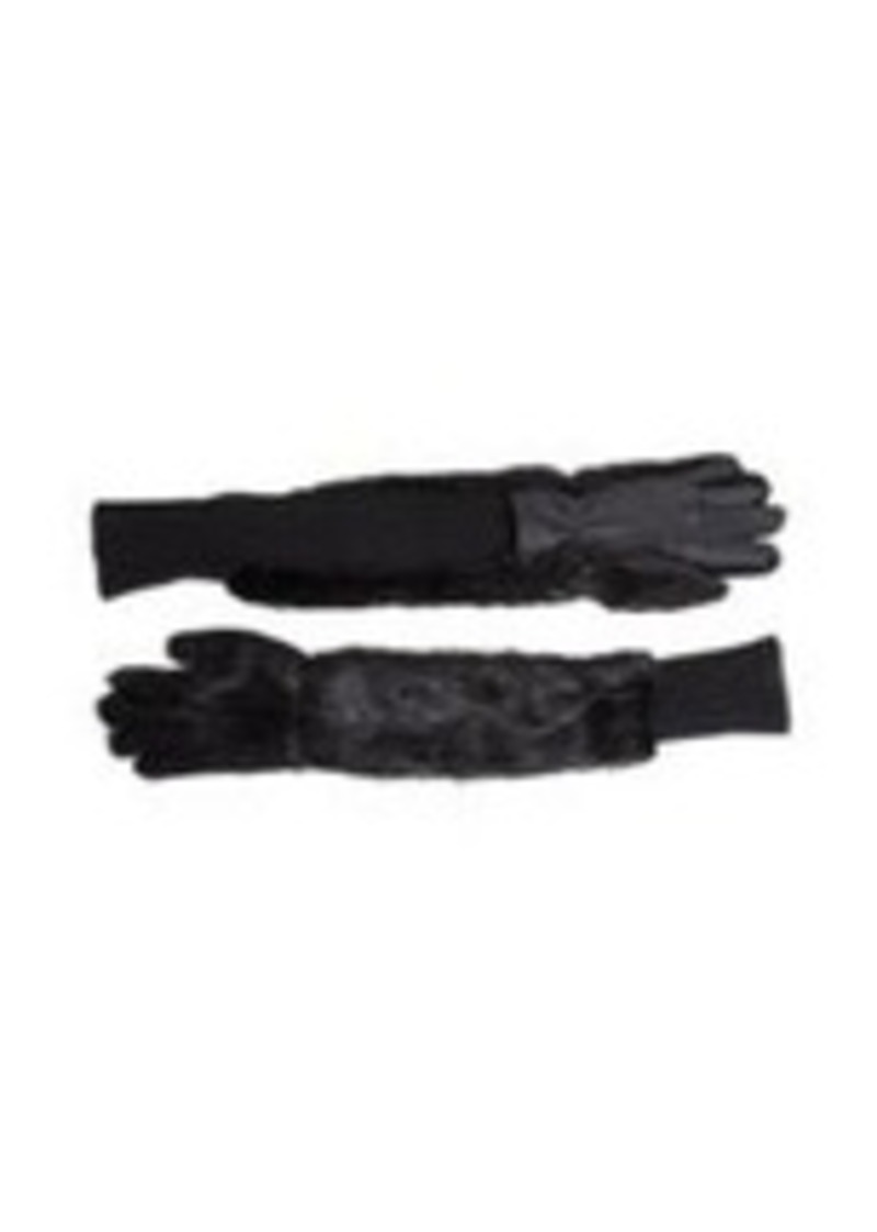 Marni Long Fur Gloves