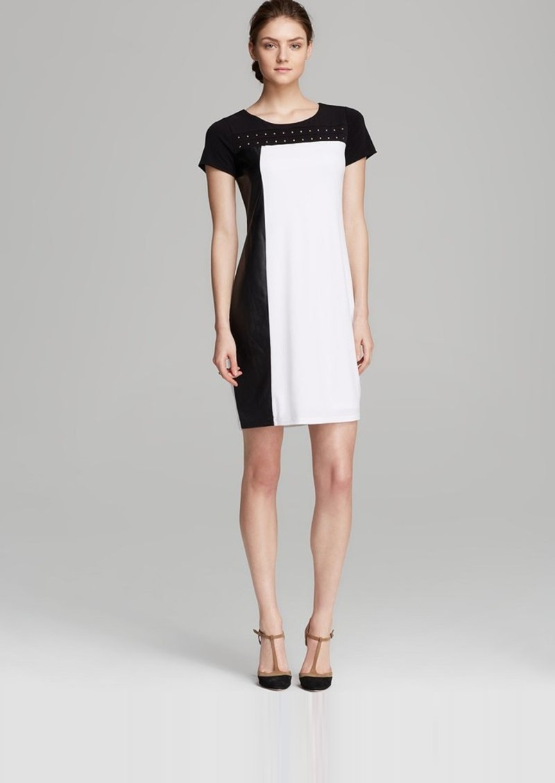 Calvin Klein Color Block Stud Dress
