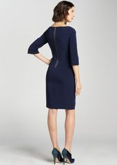 Elie Tahari navy sapphire three quarter sleeve 'Mitsy' dress