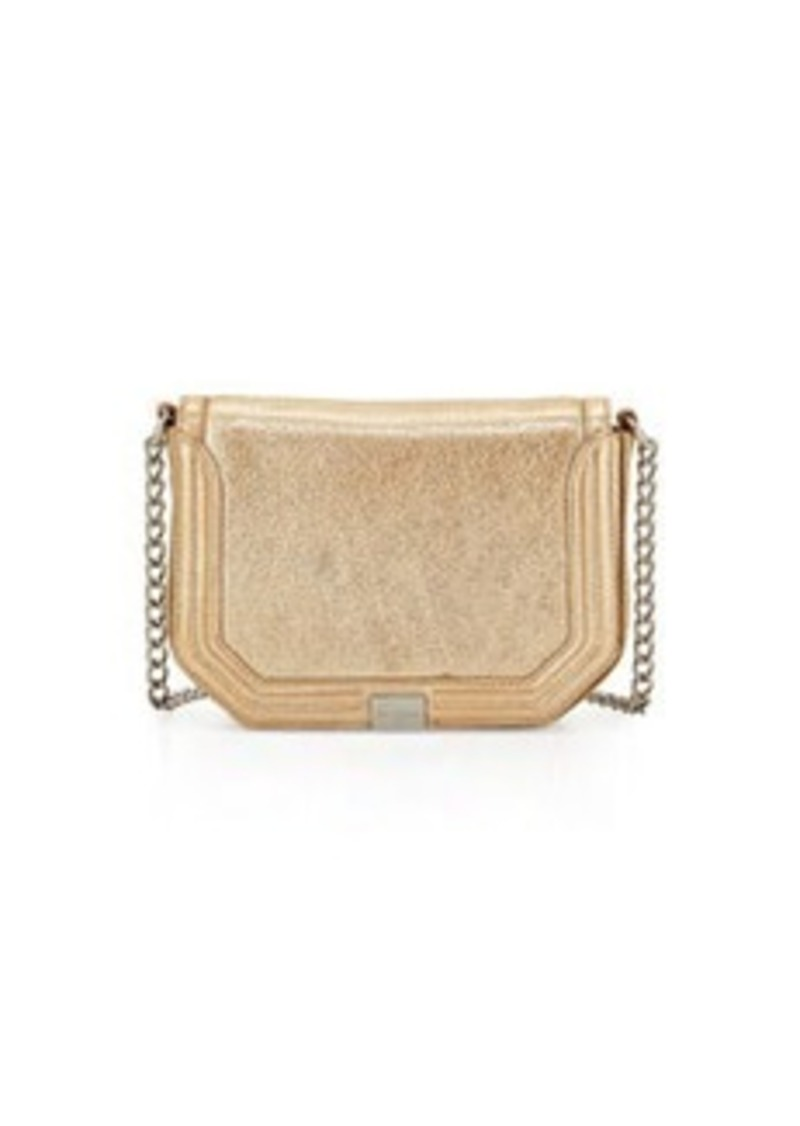 Foley + Corinna Plated Metallic Leather Cross-Body, Galvanize Gold