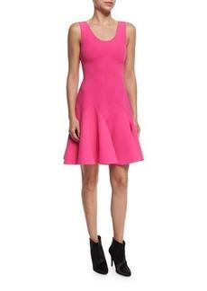 Derek Lam 10 Crosby Sleeveless Fit-and-Flare Ponte Mini Dress