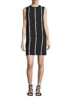 Derek Lam 10 Crosby Sleeveless Striped Silk Shift Dress