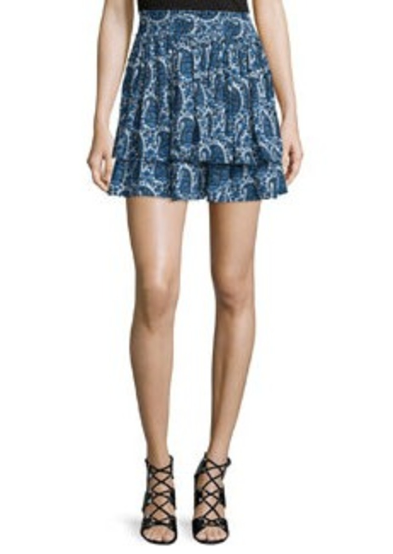 10 Crosby Derek Lam Tiered Silk Paisley Mini Skirt