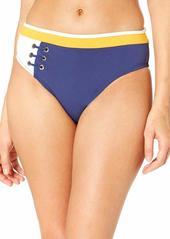 10 Crosby Derek Lam Derek Lam 10 Crosby Women's Front Laced Banded Swim Bottom  L