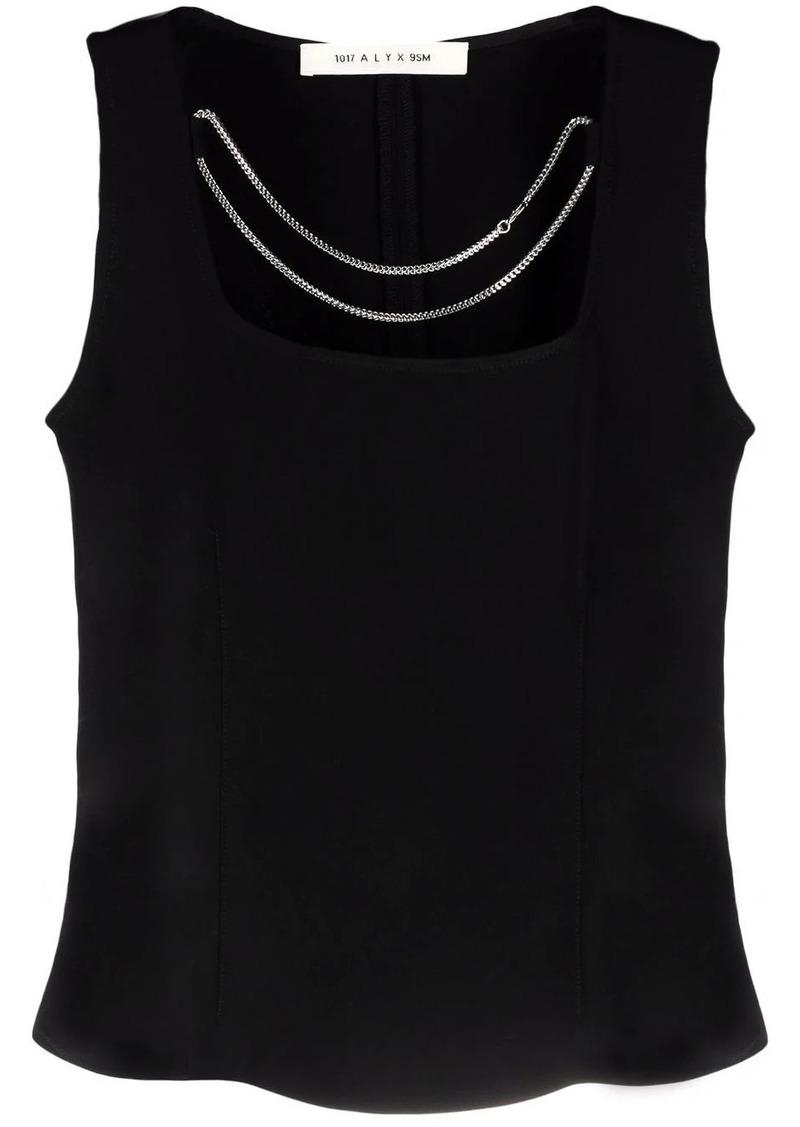 chain-detail sleeveless blouse