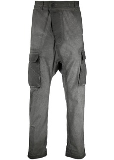 11 by Boris Bidjan Saberi distressed drop-crotch trousers