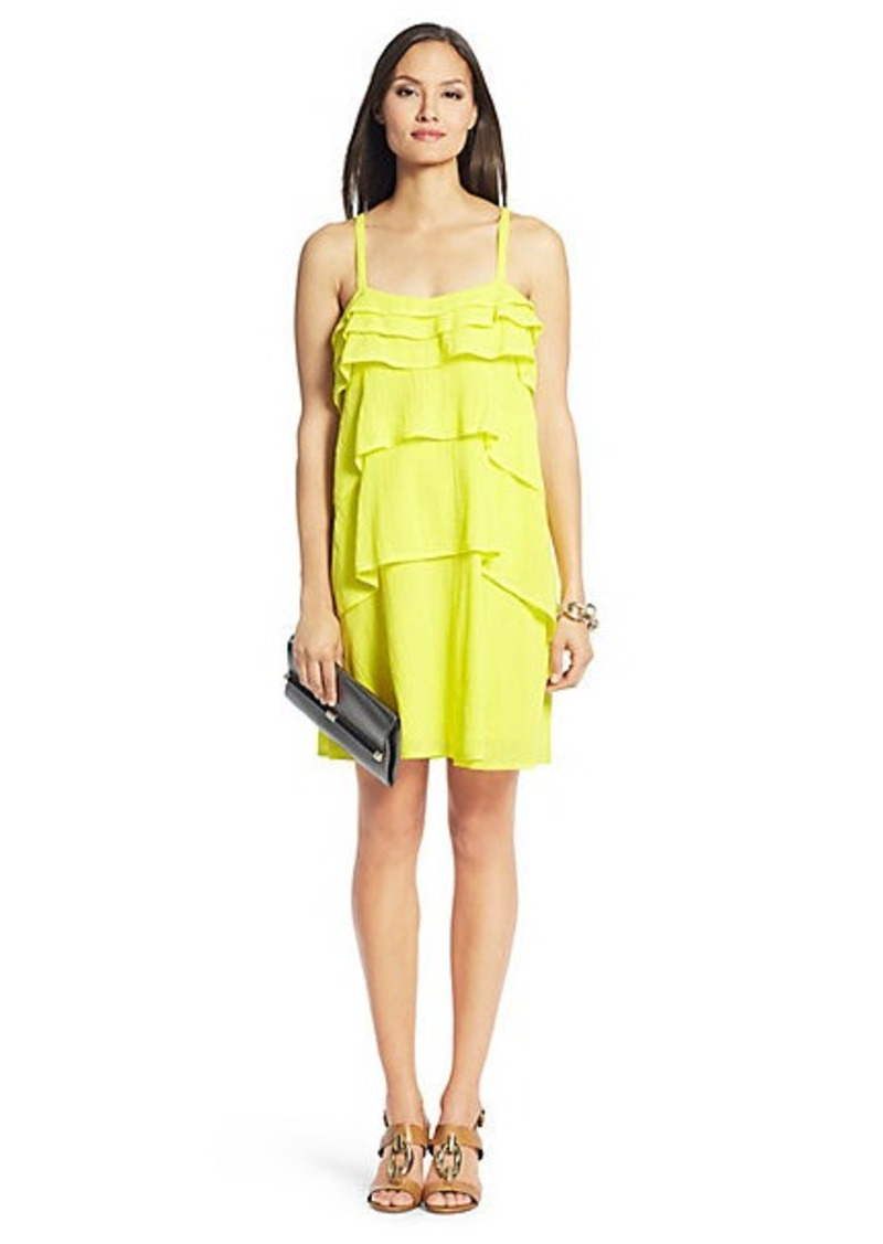 Diane Von Furstenberg Avery Cotton Tiered Dress