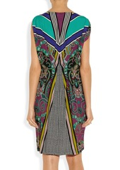 Etro Printed crepe dress