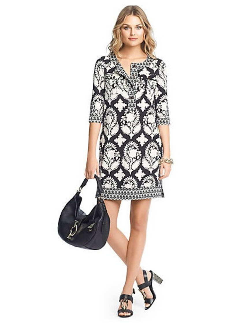 Diane Von Furstenberg Sadie Printed Silk Tunic Dress