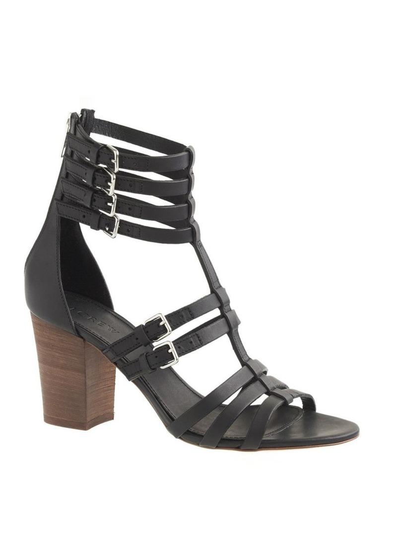 J Crew T Strap Gladiator High Heel Sandals Shoes Shop