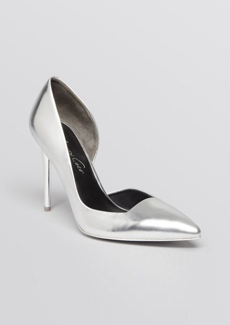 Kenneth Cole Pointed Toe Half D'Orsay Pumps - Willow High Heel