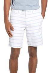 1901 Ballard Slim Fit Stripe Stretch Cotton Shorts
