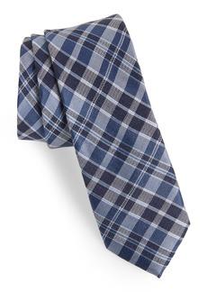 1901 Bartman Plaid Silk & Linen Tie