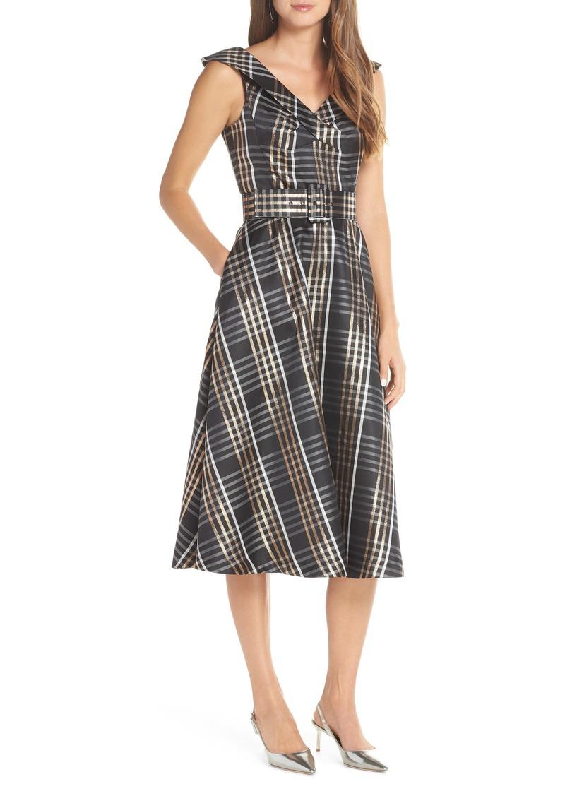 989b76d0c632 SALE! 1901 1901 Belted Plaid Midi Dress (Regular   Petite)