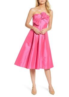 1901 Bow Bodice Strapless Midi Dress
