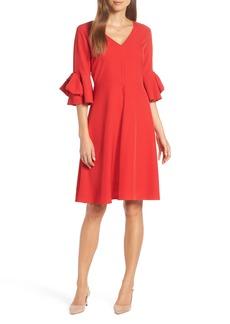 1901 Bow Sleeve A-Line Dress