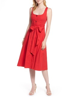 1901 Button Front Fit & Flare Midi Dress (Regular & Petite)