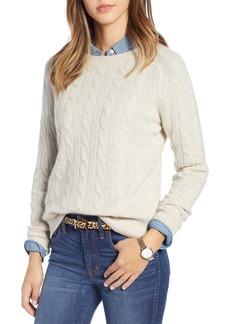 1901 Cashmere Cable Sweater (Regular & Petite)