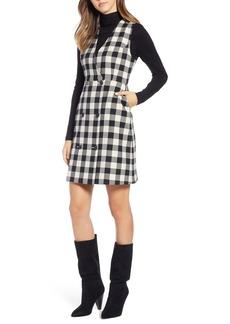 1901 Checkered Pinafore Dress