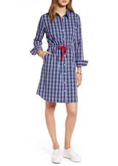 1901 Cinched Waist Long Sleeve Shirtdress