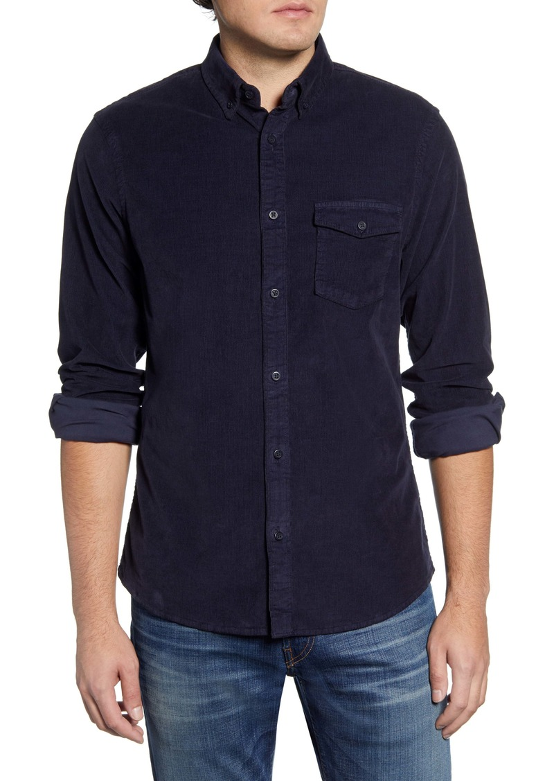 1901 Corduroy Slim Fit Corduroy Button-Down Shirt