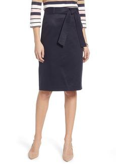 1901 Cotton Blend Twill Pencil Skirt (Regular & Petite)