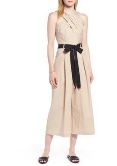 1901 Cross Front Cotton Jumpsuit (Regular & Petite)