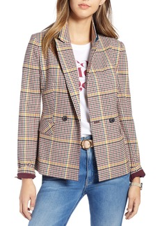 1901 Double Breasted Plaid Blazer (Regular & Petite)