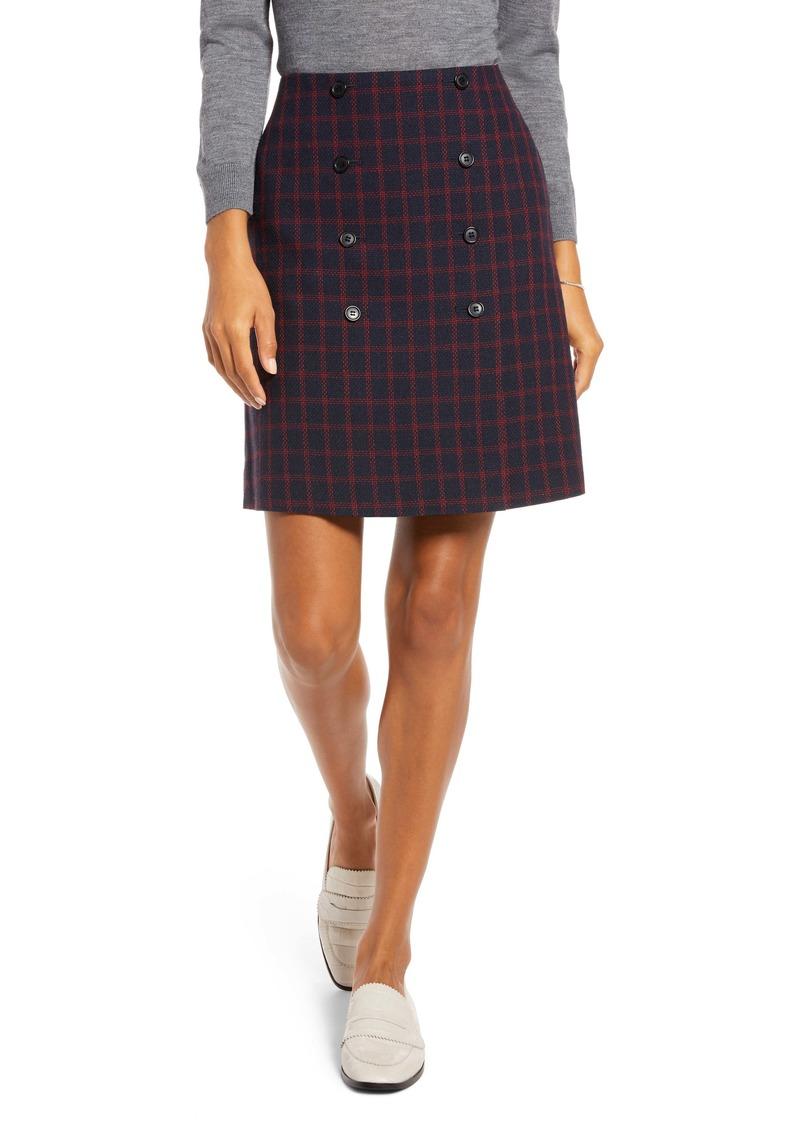 1901 Double Button Skirt (Regular & Petite)