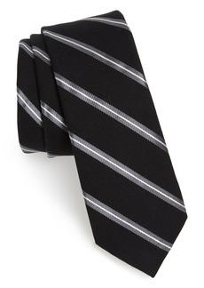 1901 Edinger Stripe Silk & Cotton Tie