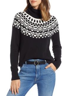 1901 Fair Isle Shrunken Turtleneck Sweater (Regular & Petite)