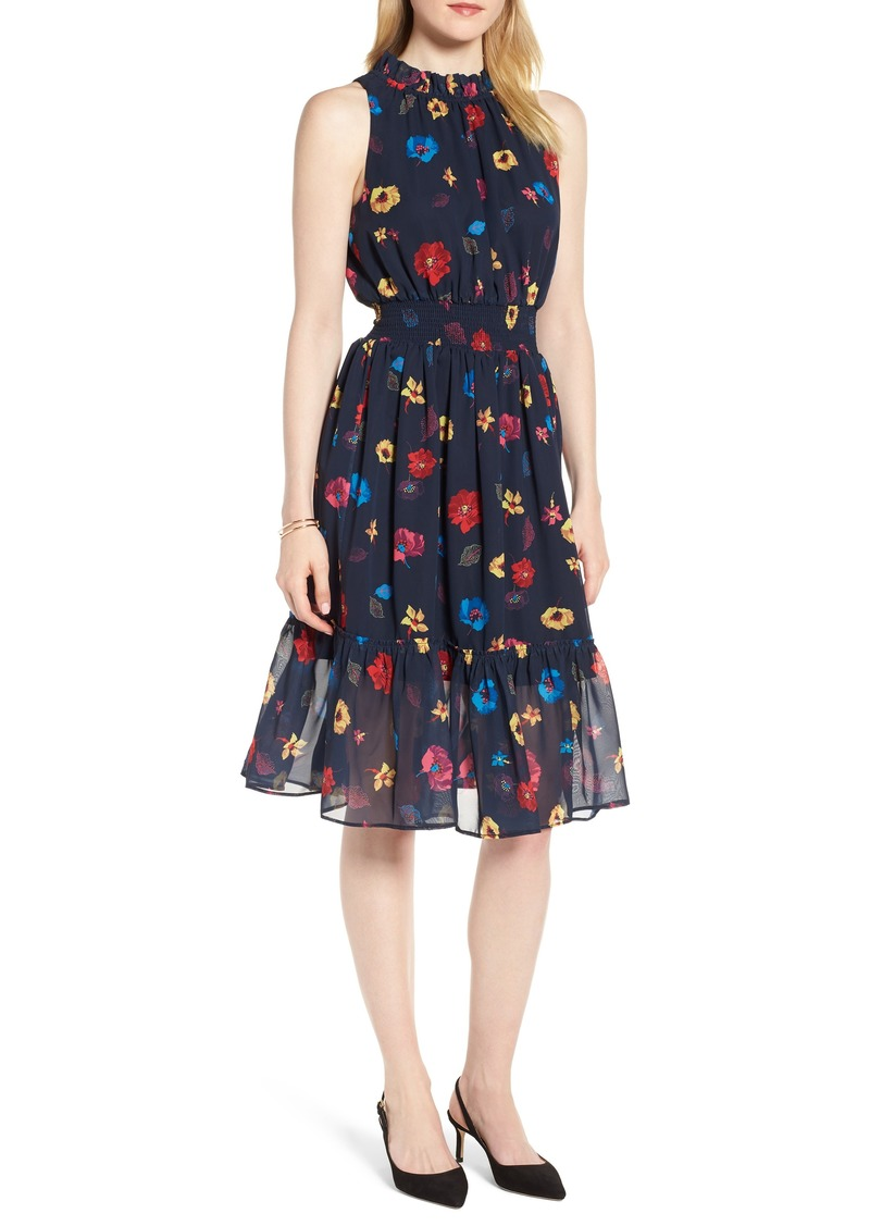 f6e0994eff80 1901 1901 Floral Chiffon Fit & Flare Dress | Dresses