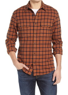 1901 Heavyweight Slim Fit Plaid Flannel Button-Up Shirt