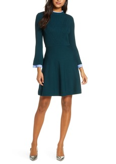1901 Long Sleeve Fit & Flare Sweater Dress
