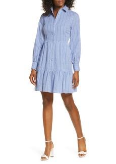 1901 Long Sleeve Gingham Shirtdress