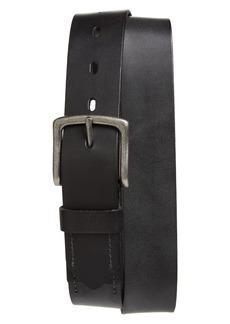 1901 Montlake Stitch Detail Leather Belt